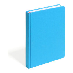 Poppin - Hard Cover Notebook, Pool Blue, Medium - Forget little black books. Let your love and creative juices flow with this sketch book in your choice of two bright colors. Each 5-1/2-by-9-inch journal has 220 blank pages and a cloth-bound cover that opens flat. Scribble outside the lines in style.