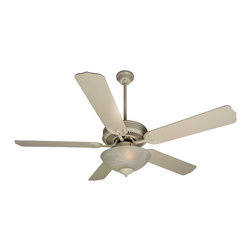 "Craftmade - Craftmade CDU201AW-CFL Antique White Custom Blade Options Ceiling Fan - CD Unipack 201 Contractor s Fan with Integrated Bowl Light Kit The CD Unipack 201 is versatile, durable and includes an Alabaster light kit. Features  Standard 153 x 12, 3 Speed Reversible Motor Blade Sweep Options: 42"" and 52"" Two Downrods Supplied, 2"" and 4"" 30 Year Limited Warranty Five Custom Blades matched to exact weight - sold separately, see below Universal Remote Adaptable - Optional Alabaster Glass Bowl Kit - Requires 2 13w CFL medium base bulbs (included) Additional Blade Selections in 42"" Size Available  Popular combinations (see Product Multimedia):   Brushed Nickel Motor with 52"" Contractor s Design Rosewood Blades White Motor with 52"" Contractor s Design White Blades Oiled Bronze Motor with 52"" Contractor s Design Oiled Bronze Blades Antique White Motor with 52"" Contractor s Design Antique White Blades Brownstone Motor with 52"" Contractor s Design Washed Walnut Birch Blades  Customize your fan:  Blade options: Works with Type 5 Blades Light kit options: Bowl Light Kit Included  Measurements (see Product Multimedia for accompanying line art)  A. Ceiling to Bottom of Light Kit with 2"" Downrod: 15.0"" A. Ceiling to Bottom of Light Kit with 4"" Downrod: 17.5"" B. Ceiling to Fan Blades 2"" Downrod: 8.5"" B. Ceiling to Fan Blades 4"" Downrod: 10.0"" C. Fan Width: 11.0"" D. Canopy Width: 5.125"" E. Motor Housing Height: 3.5"""