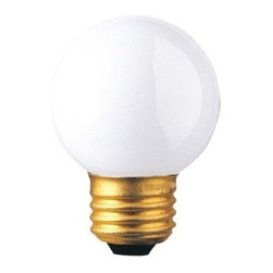 Bulbrite - Globe Medium Base Light Bulbs in White - 25 B - Choose Wattage: 25wOne pack of 25 Bulbs. G16-1/2 incandescent type bulb. Standard E26 base bulb. Dimmable. EISA compliant. Voltage: 125 V. Average hours: 2500. Color rendering index: 100. Beam spread: 360 degree. Color temperature: 2700K. Ideal for use in vanity, chandeliers, pendants and down lights. 25 watt lumens: 160. 40 watt lumens: 310. 60 watt lumens: 615. 2 in. Dia. x 2.88 in. H