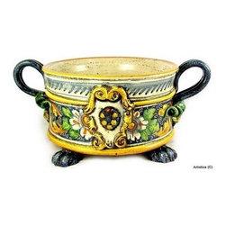 Artistica - Hand Made in Italy - Venezia: Round Bowl/Centerpiece - Majolica Venezia Collection: