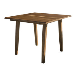 Rift Card Table Walnut - Perfect for apartment living, this small and versatile table can be used for dining or as an occasional table.
