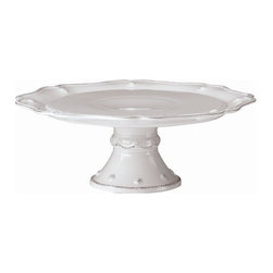 "Juliska - Juliska Berry and Thread Small Cake Stand, Whitewash - Juliska Berry and Thread Sm. Cake Stand Whitewash.This sweetly sophisticated stand is as versatile as it is lovely. Sprinkled with berries, it elevates desserts, cheeses, or nibbles to the peak of perfection on your table. Dimensions: 11.5"" W x 4.5"" H"