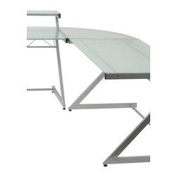 Eurostyle - Z Deluxe Corner-Aluminum/Frosted - Aluminum powder, epoxy coated steel frame
