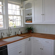 Farmhouse Kitchen Countertops by DeVos Custom Woodworking