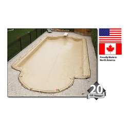 Blue Wave - Blue Wave 20Yr Tan Rectangular Winter Cover - 16 ft x 32 ft - In-Ground Armor Kote Winter Covers Advanced Coating Technology Means This Cover Will Outlast 2 Or 3 Imported Covers 20-Year Warranty Armor Kote Is Made From Premium North American Woven Polyethylene. Unlike Cheaper Imports, Armor Kote Super Strong Materials Make This Cover Up To 50% Stronger Than Any Other Winter Cover. Not Only Is It Super Strong, It Is Up To 30% Lighter, So It Is Easy To Install Each Fall And Remove In The Spring. In Addition To The Superior Strength, Armor Kote Advanced Coating Technology Produces A Fabric That Resists Chlorine, Chemicals, High Wind And Also Has Superior Tear And Puncture Resistance. This Domestic Dynamo Is Made To Last! Our In-Ground Model Features A 5 Foot Overlap And Has Heavy Duty Water Loops Every 40 Inches. Rugged Corner Loops Provide For Extra Tie Down Protection In High Wind Areas. Armor Kote Covers Are An Attractive Tan With A Dark Blue Underside To Prohibit Algae Growth. If You Are Tired Of Replacing Your Winter Cover Every Other Season, Invest In This Rugged North American Cover With Superior Quality. 20 Year Warranty.