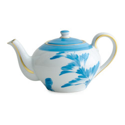 Michael Devine Ltd. - Charlotte 3 Cup Teapot - This wonderful hand painted teapot holds three cups of tea. Since this item is made to order please allow 6-8 weeks for delivery.  All sales are final.