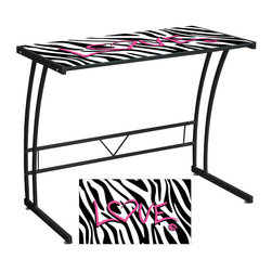 Graphic Top Sigma Desk - Zebra Love -