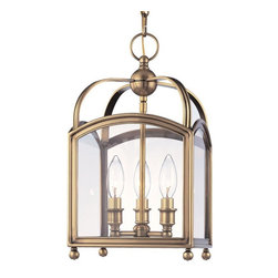 Hudson Valley Lighting - Hudson Valley Lighting 8409-AGB Pendant Light in Aged Brass - Hudson Valley Lighting 8409-AGB Millbrook Collection Traditional Pendant Light in Aged Brass