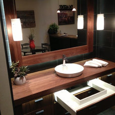 Contemporary Bathroom Vanities And Sink Consoles by Don vonAhlefeld, Hayes Cabinets Inc.