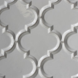 Arabesque Tile - Arabesque Beveled White Tile by MIDS Tile