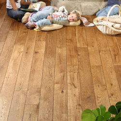 """Chêne de l'est - No oak floor compares to our collection of French oak floors from Chêne de l'est.  Available by special order, these planks come in a variety of widths and finishing techniques.  All of the floors have European oil finishes.  Available in 3/4"""" and 1/2"""" solid planks or engineered."""