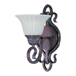 Via Roma-Wall Sconce - Italian influence at its best with classic Greek Bronze finish and Soft Vanilla glass.