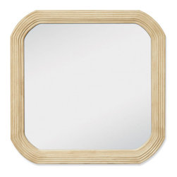 Elliptical Vanity Mirror - This modified square beveled mirror is designed to complement the Elliptical Vanity Cabinets.