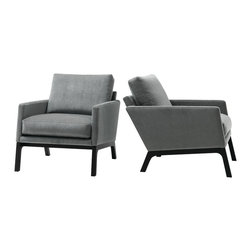 The Monte - Monte chair, available in fabrics and leathers.