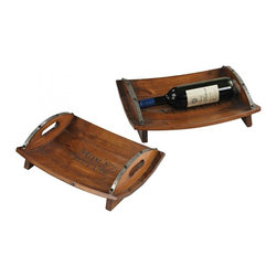 Sterling Industries - Set Of 2 Moms Vineyard Trays - Set Of 2 Moms Vineyard Trays
