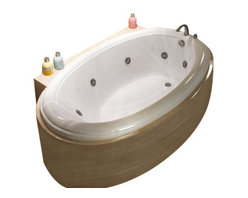 Spa World Corp - Atlantis Tubs 4478PCWR Petite 44x78x23 Inch Oval Whirlpool Jetted Bathtub - The petite series features a classic oval-shaped bathtub design with stylish, ridged edges. The oval bathtub opening allows bathers to enjoy a comfortable bathing experience. Whirlpool tubs feature jets and recirculating pumps to supply a hydro-therapeutic experience. Whirlpool tubs are designed to provide a more vigorous and comforting massage with jets positioned to direct warm water to areas like the lower and upper back, shoulders and legs. The Atlantis whirlpool hydro therapy configuration consists of symmetrically-allocated, 360� direction-adjustable water jets. System control is located on the entrance side panel, allowing bathers to turn water streams on and off. Drop-in tubs have a finished rim designed to drop into a deck or custom surround. They can be installed in a variety of ways like corners, peninsulas, islands, recesses or sunk into the floor. A drop in bath is supported from below and has a self rimming edge that is designed to sit over a frame topped with a tile or other water resistant material. The trim for the air or water jets is featured in white to color match the tub.