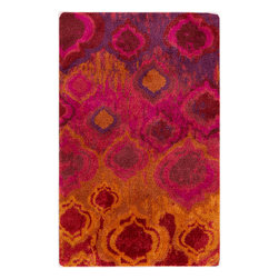 Surya - Mirage Modern Burnt Orange & Poppy Nylon Rug - Such a vivid and bursting decor element was never before in your home interior. This modern and awesome area rug offers a splash of fun and bright colors to make your home impressing and memorable. Features: