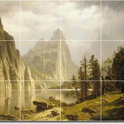 Picture-Tiles, LLC - Merced River Yosemite Valley Tile Mural By Albert Bierstadt - * MURAL SIZE: 24x32 inch tile mural using (12) 8x8 ceramic tiles-satin finish.
