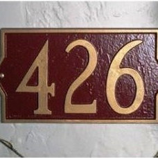 Contemporary House Numbers Whitehall Milan Address Plaque