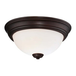 Minka Lavery - Minka Lavery 4960-284 2 Light Flush Mount Ceiling Fixture in Brushed Nickel from - Two Light Flush Mount Ceiling Fixture in Brushed Nickel from the Overland Park CollectionFeatures: