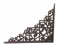 """Renovators Supply - Shelf Brackets Black Aluminum 7"""""""" x 8 3/4"""""""" Shelf Bracket 