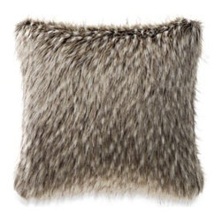 Kenneth Cole Reaction Home - Kenneth Cole Reaction Home Mason Faux-Fur Square Toss Pillow - Featuring soft, silky faux-fur, this decorative pillow adds a luxurious and inviting touch to your Mason duvet cover. 75% acrylic/25% polyester.