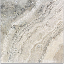 Alabastrino Classic Travertine Tile - DOMINATED BY PILLOWS OF KHAKI, THE UNDERLYING TONES OF NUDE ALLOW HINTS OF GRAY TO PEEK OUT FROM UNDERNEATH PROVIDING A DIVINE AMOUNT OF CONTRAST.