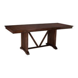 Standard Furniture - Standard Furniture Artisan Loft Counter Height Table in Aged Bronze - The rustic yet refined character of arts and crafts styling is portrayed in the authentic craftsman elements found in artisan loft dining.