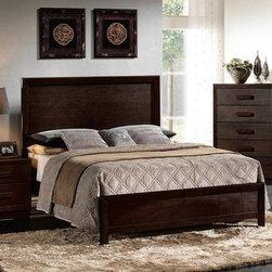 Acme Furniture - Ishanan Dark Merlot California King Bed - 21484CK - Ishaan Collection California King Bed