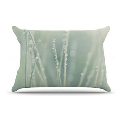 "Kess InHouse - Ingrid Beddoes ""Blue Ice"" Pillow Case, Standard (30"" x 20"") - This pillowcase, is just as bunny soft as the Kess InHouse duvet. It's made of microfiber velvety fleece. This machine washable fleece pillow case is the perfect accent to any duvet. Be your Bed's Curator."