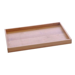 Gedy - Tray Made From Wood, Bamboo - This free standing rectangular tray is