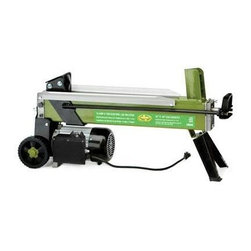 Snow Joe - Electric Log Splitter 5 Ton - The Sun Joe Logger Joe LJ601E is a portable log splitter made for home or light/portable use. Its 120 Volt/2 HP motor has an approximate driving force of 5 tons, which will easily handle your standard size firewood log (10-IN x 20-IN). This splitter is easily portable and can be used in a variety of locations to suit your needs. Its steel construction will have a long lasting life. Safety features include an overload shut-off circuit and a double-handed switch system. This machine is ETL inspected and approved and comes with a full two year warranty from the manufacturer.