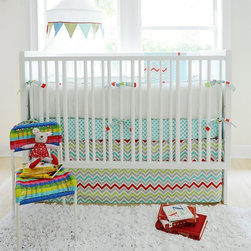 Jelly Bean Parade - I like this set as an alternative for a boy's room. The touch of red gives the set a nice energetic punch.