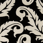 Surya - Surya Goa G-5133 (Black, White) 8' x 11' Rug - With an array of unique designs, Goa characterizes all you will ever want in a beautiful rug. These fashion-forward rugs utilize a color palette that follows effortlessly with today's hottest furniture styles. Designs range from peaceful floral to exciting contemporary themes. This collection is sure to become an essential piece in any home that desires a higher sense of style and fashion.