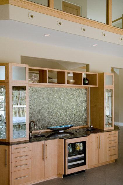 Contemporary Home Bar by Martin Bros. Contracting, Inc.