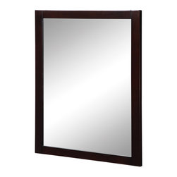 Decolav - Decolav Cameron Espresso Wall Mirror - DECOLAV's Cameron Wall Mirror is designed to be hung vertically . Available in birch veneer with espresso finish or white finish, providing the final touch needed for any d_cor,.