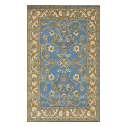"""Dynamic Rugs - Dynamic Rugs Sapphire 4950-520 (Blue, Ivory) 3'6"""" x 5'6"""" Rug - This Hand Tufted rug would make a great addition to any room in the house. The plush feel and durability of this rug will make it a must for your home. Free Shipping - Quick Delivery - Satisfaction Guaranteed"""