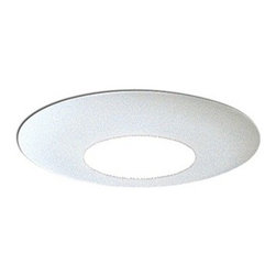 "Nora Lighting - Nora NT-622 6"" Albalite Lens with Designer Metal Trim, Nt-622w - 6"" Albalite Lens with Designer Metal Trim"