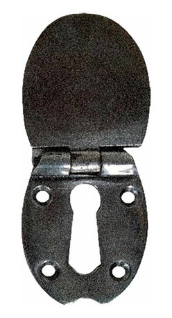 Renovators Supply - Escutcheons Black Wrought Iron Escutcheon 2 1/2'' - These outstanding escutcheons crafted of wrought iron are popular on furniture and doors. A fabulous detail for a modern sleek look or for that Old Colonial charm. Affordably reclaim old furniture and doors. Our exclusive RSF coating protects this item for years to come. Mounting hardware included.