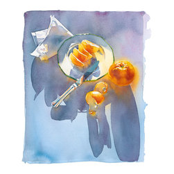 Morning Watercolor Art - Watercolor painting reproduced as a pigmented print. Signed and numbered limited edition.