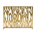 Arteriors - Gina Screen - This captivating design was born out of our appreciation for flames and their mysterious beauty. This design, both geometric and organic, only gets more interesting when backlit by firelight. Finished in antique brass.