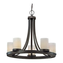 Design Classics Lighting - Five Light Old World Round Candle Chandelier Light in Bronze Finish - 160-78 - Comes with three feet of chain and seven feet of wire. Takes (5) 100-watt incandescent A19 bulb(s). Bulb(s) sold separately. Dry location rated.