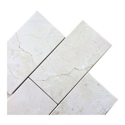 """Marbleville - Crema Marfil 3"""" x 6"""" Classic Honed Marble Floor and Wall Tile - Premium Grade Crema Marfil 3"""" x 6"""" Classic Honed is a splendid Tile to add to your decor. Its aesthetically pleasing look can add great value to any ambience. This Mosaic Tile is made from selected natural stone material. The tile is manufactured to high standard, each tile is hand selected to ensure quality. It is perfect for any interior projects such as kitchen backsplash, bathroom flooring, shower surround, dining room, entryway, corridor, balcony, spa, pool, etc."""