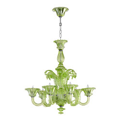 Cyan Design - Lascala Six Light Chandelier - Lascala six light chandelier - green