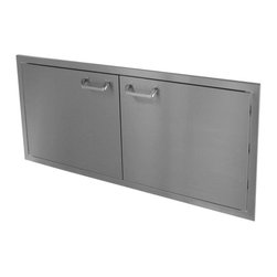 """HBI - Hasty-Bake 48"""" Stainless Steel Deluxe Double Access Door (48DD-DLX) - These doors feature double-lined construction, all Stainless 304 grade material, 3 way adjustable cabinet hinges, and polished chrome handles. Raised bezel compliments the look of other top quality appliances installed in your outdoor kitchen. Available in numerous sizes.   Features:"""