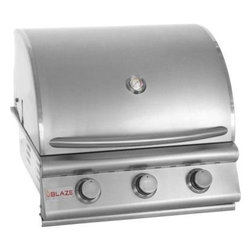"Blaze Outdoor - 25"" 3-Burner Blaze LP Grill - 3 commercial quality 304 cast stainless steel burners"