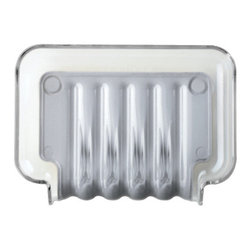 Better Living Products - The Trickle Tray Soap Dish - Don't you just hate a bar of slimy soap?  Not to mention a smelly kitchen sponge! But when you rest either on this cool draining tray, you'll never have to deal with either again. Available in several colors as well as cool chrome.