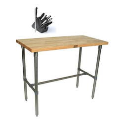 John Boos - John Boos CUCNB02-40 Cucina Americana Classico 18x12 inch Table and Henckels 13 - The Cucina Americana Classico by John Boos is one of the highest quality kitchen work tables available. This table comes with an 18-inch x 22-inch cutting board.