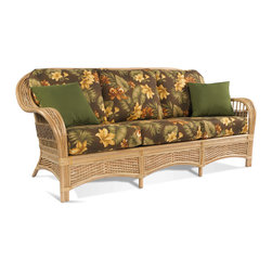 Rattan Sofa: Tropical Breeze - Tropical Breeze Rattan Sofa: