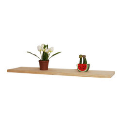 Welland - Aspen 48-inch Wood Wall Shelf - Commit to getting the piles of magazines, books, etc., off of your floor by cleverly organizing them on this solid wood wall shelf. Even old clutter looks good when displayed neatly on this decorative ledge.